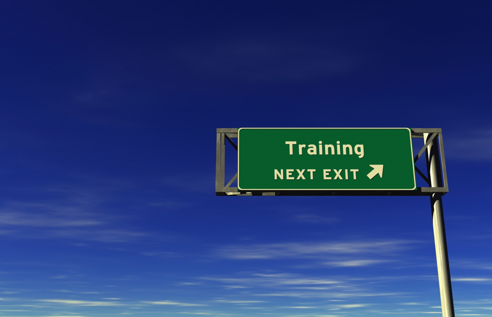 Training - Freeway Exit Sign